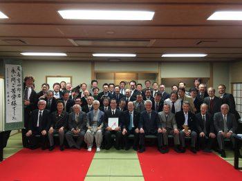 尾島前会長の慰労会を開催しました。